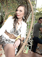 60 Plus MILFs - The yardman, Mona and a very hairy pussy - Mona (41 Photos)