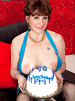60 Plus MILFs - Bea's 70th birthday surprise: two cocks for her ass! - Bea Cummins (51 Photos)