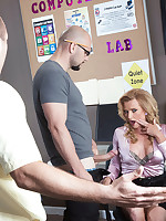 50 Plus MILFs - Three-way office anal - Amanda Verhooks (65 Photos)