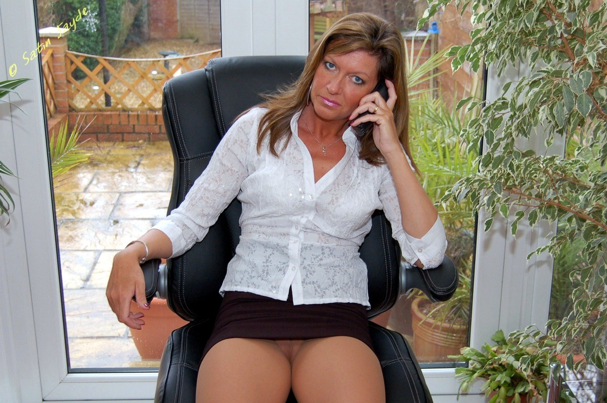 business woman upskirt thumbs