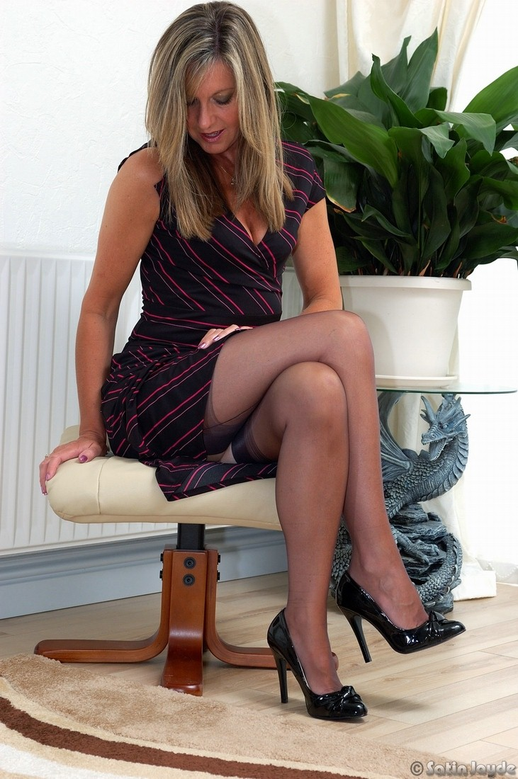 panties and nylons for shoe babe -Ideal Granny